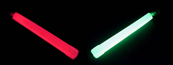 Red and Green Glow Sticks