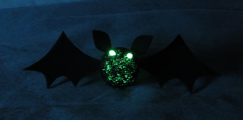 Halloween Glow Crafts - Glow Bat