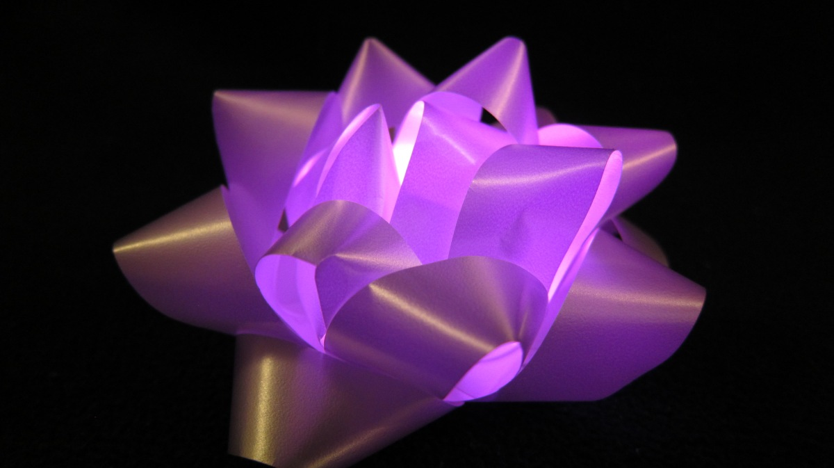 Light Up Color Change Gift bow