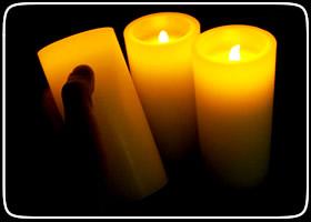 Flameless Candles Pillar