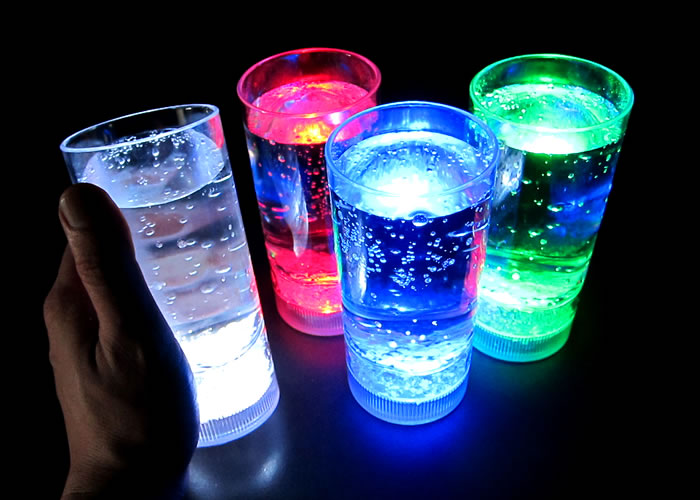 sports bar glowing glasses
