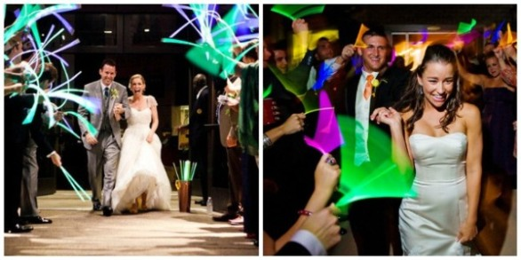 Glow Sticks at Wedding