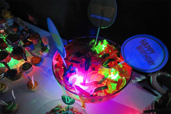 Glow In The Dark Candy Buffet Glow Party Ideas – A...
