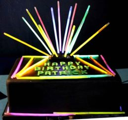 GlowSticksInABirthdayCake