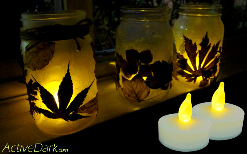 Glitter Glue Flicker Jars With Led Candles Activedark Com Glowing Ideas