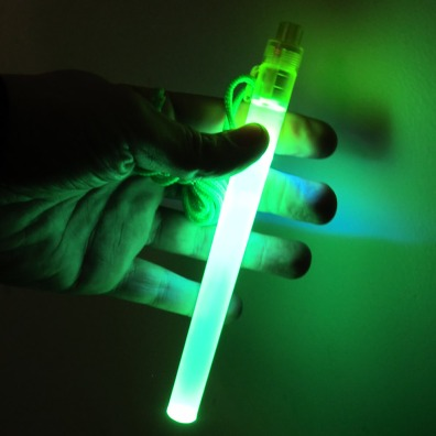 7 Inch LED Safety Light Stick - Green