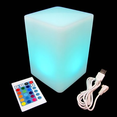 Light Up Column Cube Lamp