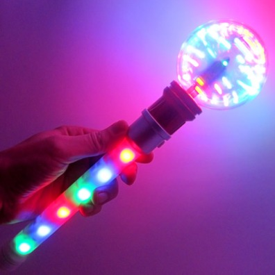 LED Spinning Star Wand