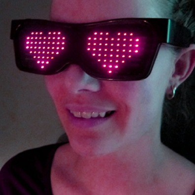 Animated LED Glasses