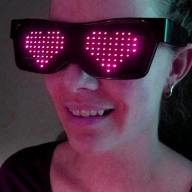 Animated LED Glasses
