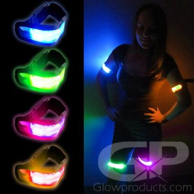 Glowing LED Armbands
